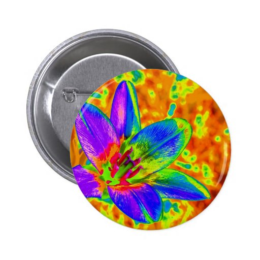 Multicolored flower pins