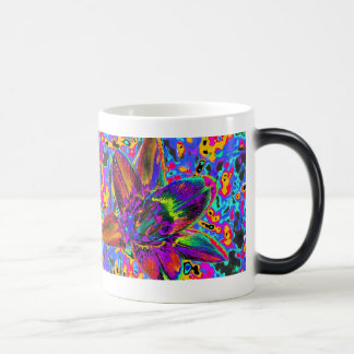 Multicolored flower 11 oz magic heat Color-Changing coffee mug