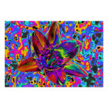 Multicolored flower poster