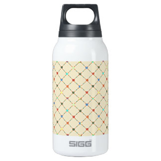 Multicolored Flowers And Square. Geometric Pattern SIGG Thermo 0.3L Insulated Bottle