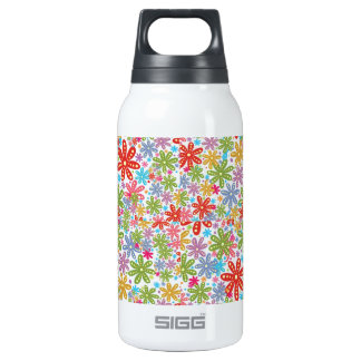 Multicolored Flowers Design. Floral Pattern SIGG Thermo 0.3L Insulated Bottle