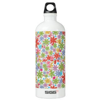 Multicolored Flowers Design. Floral Pattern SIGG Traveler 1.0L Water Bottle