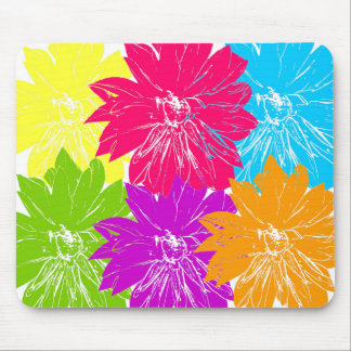 Multicolored flowers mouse pad