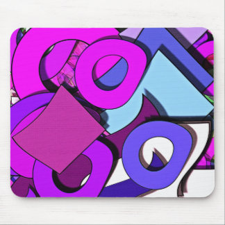 Multicolored forms mouse pad