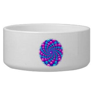 Multicolored fractal balls bowl