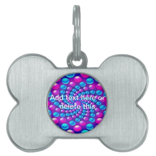 Multicolored fractal balls Pet Tag