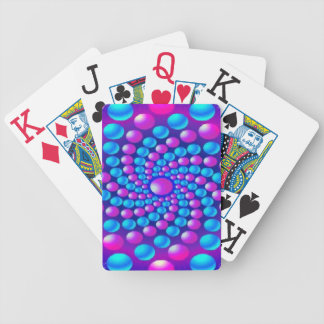 Multicolored fractal balls Playing Cards