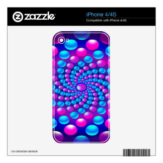 Multicolored fractal balls Zazzle Skin Skins For The iPhone 4