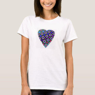 Multicolored Fractal Heart T-Shirt