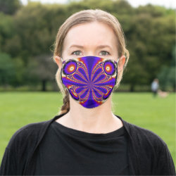 Multicolored Fractal Kaleidoscope Face Mask