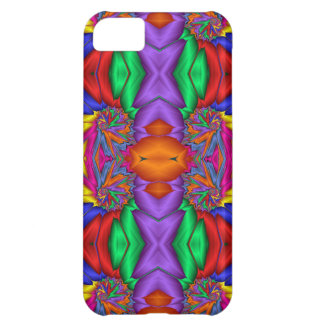 Multicolored fractal pattern case for iPhone 5C