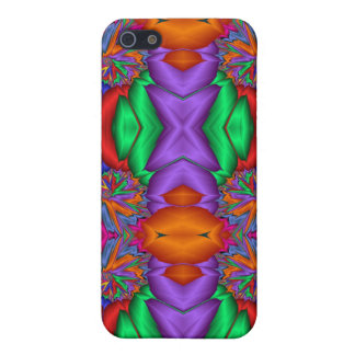 Multicolored fractal pattern cover for iPhone SE/5/5s