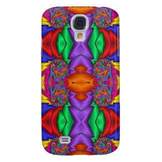 Multicolored fractal pern galaxy s4 case