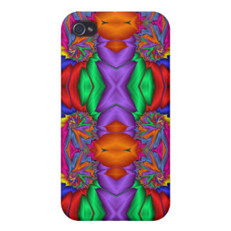 Multicolored fractal pern iPhone 4/4S cover