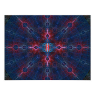 Multicolored Fractal Wall Art Poster