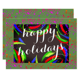 Multicolored & Fun Happy Holidays - Card