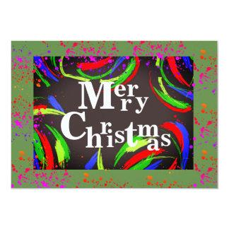 Multicolored & Fun Merry Christmas - Card