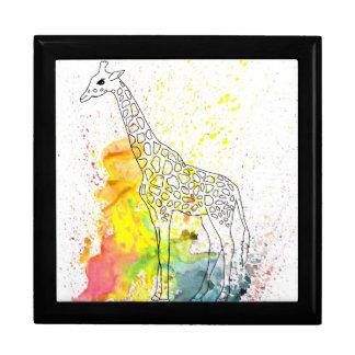 Multicolored Funky Giraffe (K.Turnbull Art) Jewelry Box