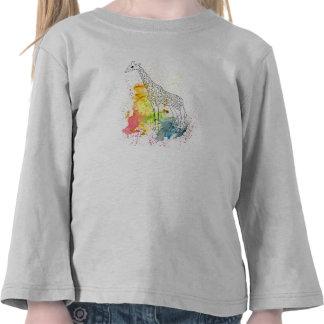 Multicolored Funky Giraffe (K.Turnbull Art) T Shirts