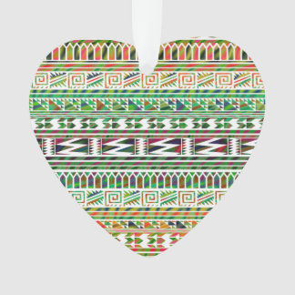 Multicolored Geometric Aztec Tribal Print Pattern