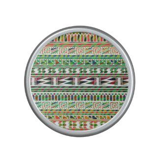 Multicolored Geometric Aztec Tribal Print Pattern Speaker