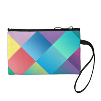 Multicolored Geometric Coin Wallet