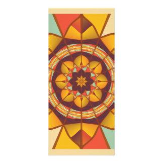 Multicolored geometric flourish rack card
