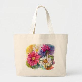 Multicolored Gerbera Daisies Jumbo Tote Bag