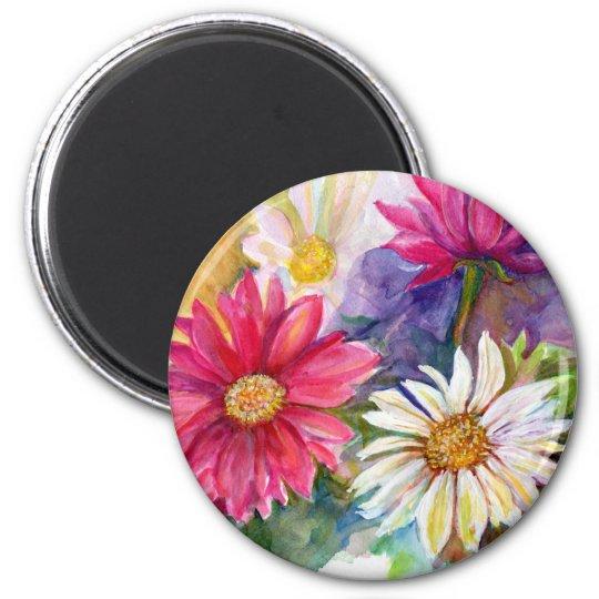 Multicolored Gerbera Daisies Magnet