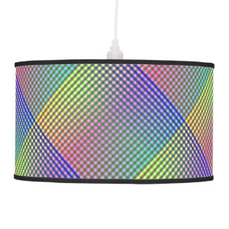 Multicolored Gingham Style Pattern Ceiling Lamps