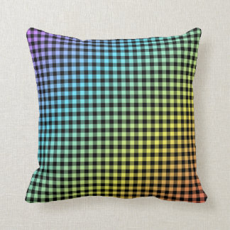 Multicolored Gingham Style Pattern Pillow