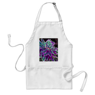 Multicolored Glowing Edge Dahlia Products Adult Apron
