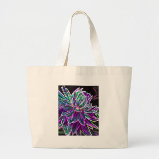 Multicolored Glowing Edge Dahlia Products Jumbo Tote Bag