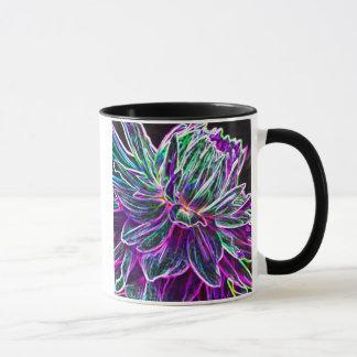 Multicolored Glowing Edge Dahlia Products Mug