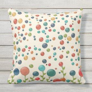 Multicolored Gumdrop Garden Pillow