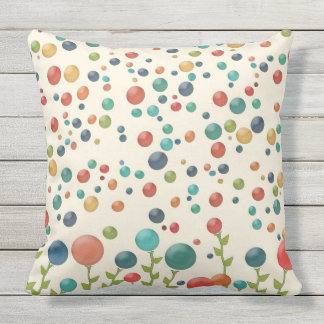 Multicolored Gumdrop Garden Pillow