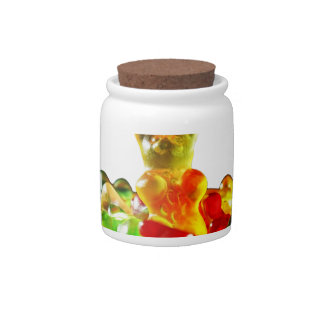 Multicolored Gummy Bears Candy Jar