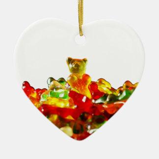 Multicolored Gummy Bears Ceramic Ornament