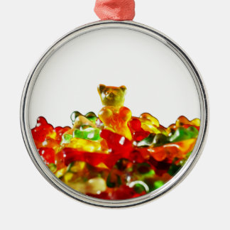 Multicolored Gummy Bears Metal Ornament