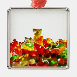 Multicolored Gummy Bears Metal Ornament