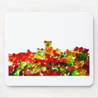 Multicolored Gummy Bears Mouse Pad
