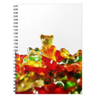 Multicolored Gummy Bears Notebook