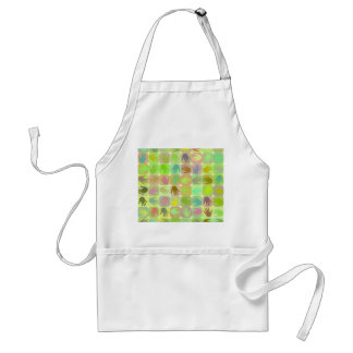 Multicolored hands pattern adult apron