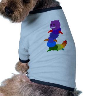 Multicolored Happy Smiling Cartoon Caterpillar Doggie Tshirt