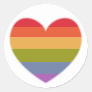 Multicolored heart sticker