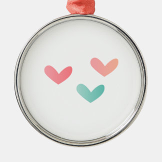 Multicolored Hearts Christmas Tree Ornaments