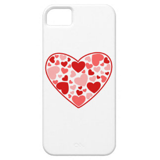 Multicolored Hearts within a Heart iPhone SE/5/5s Case