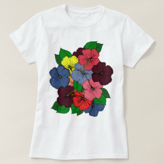 Multicolored Hibiscus Flowers #2 T-Shirt
