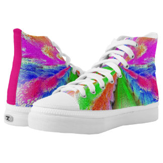 Multicolored High-Top Sneakers