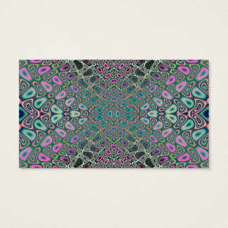 Multicolored Hologram Butterfly Fractal Abstract Business Card
